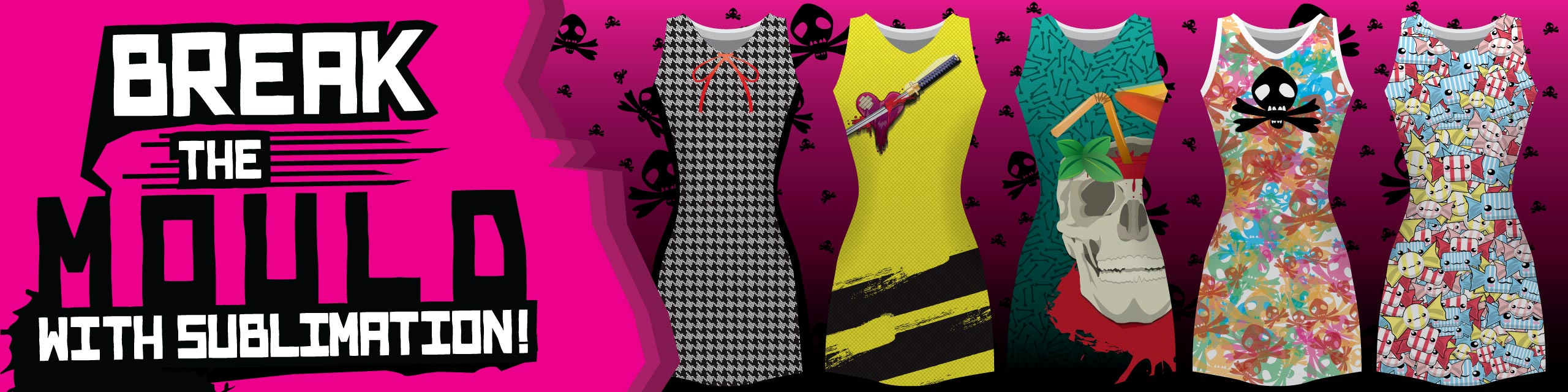 Design you own sublimated roller derby kits at Team Colours