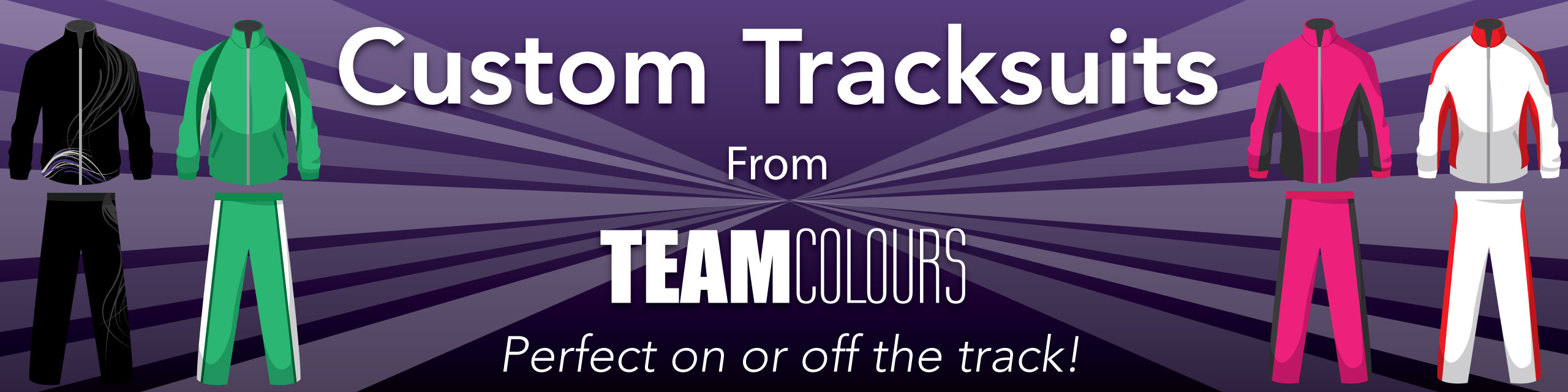 Design you own tracksuits at Team Colours