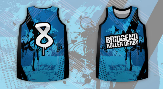 Bridgend Sublimated Roller Derby Jersey