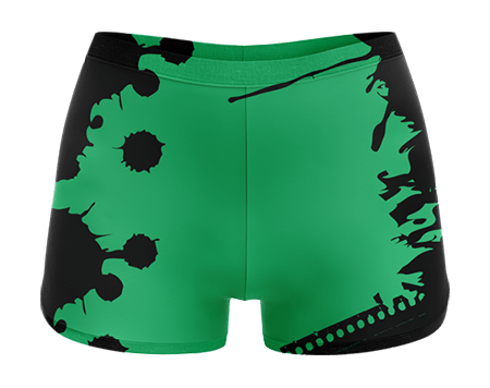 Grunge Sublimated Cheerleading Hotpants