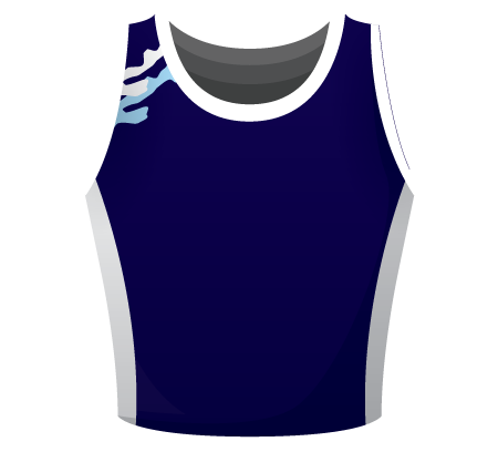 Sapphire Sublimated Cheerleading Top