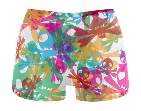 Skull Blitz Sublimated Cheerleading Hotpants