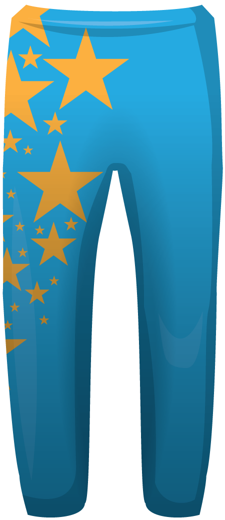Stars Sublimated Cheerleading Leggings