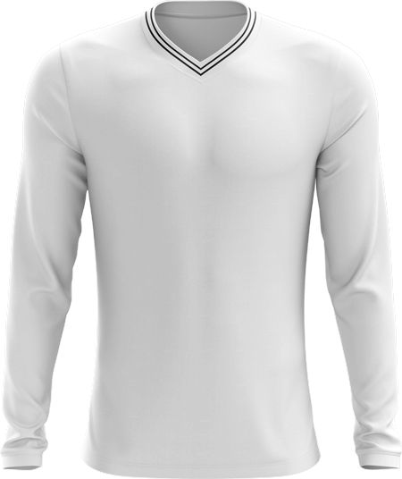 Double Piped Full Sleeve Cricket Sweater