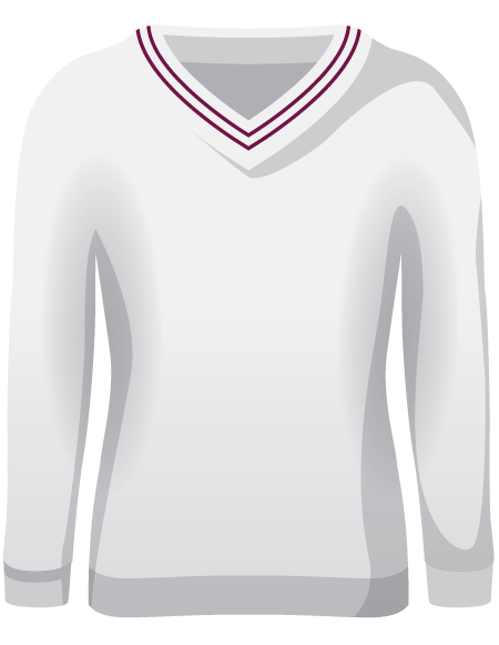 Womens Double Piped Full Sleeve Cricket Sweater