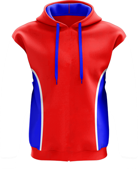 Style 3 Sleeveless Custom Hoodies | Team Colours