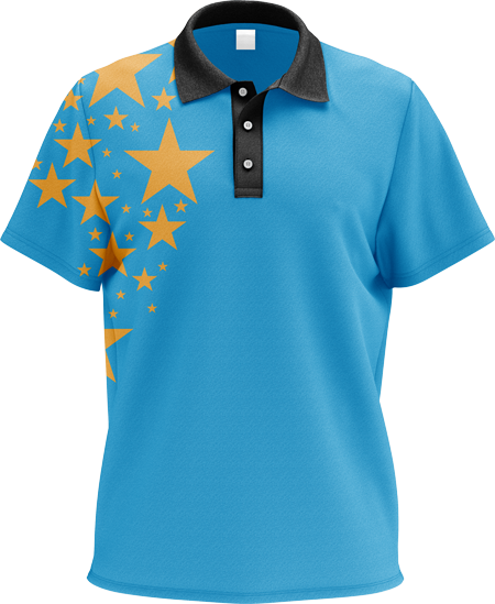 Stars Sublimated Polo Shirt