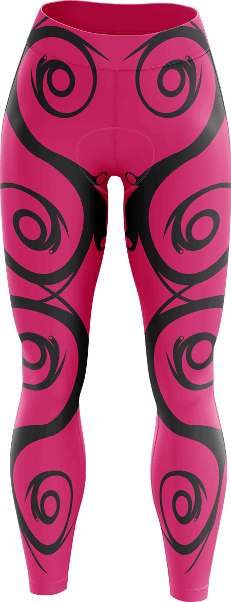 Flourish Ladies Sublimated Padded Cycling Leggings