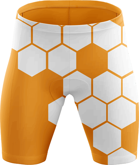 Hex Sublimated Padded Cycling Shorts