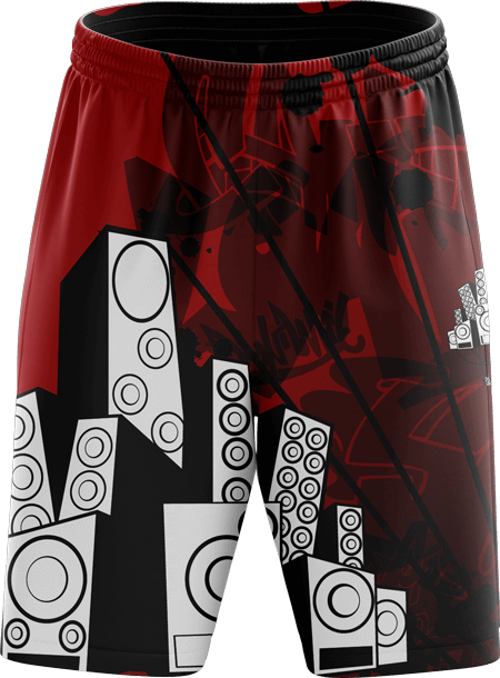 Graffiti Design Sublimated Dance Shorts