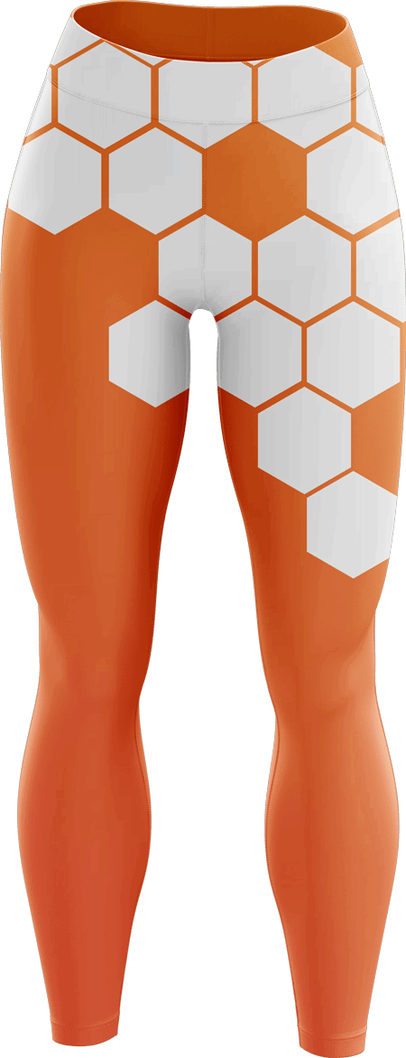 Hex Sublimated Dance Leggings
