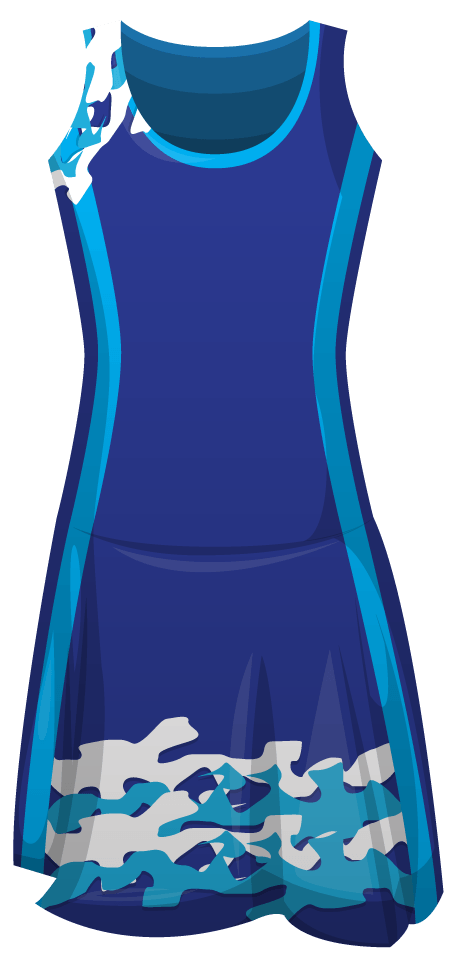 Sapphire Sublimated Leotard Netball Dress