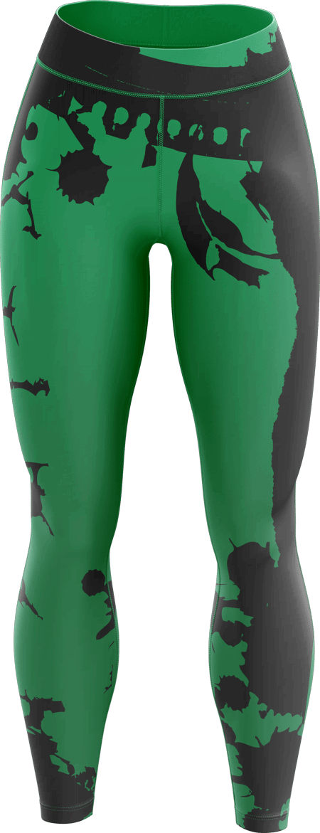 Grunge Sublimated Roller Derby Leggings