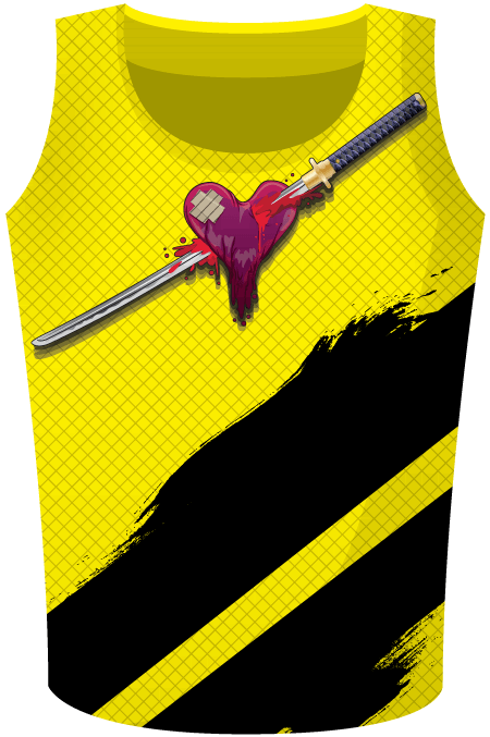 Heart Breaker Sublimated Roller Derby Top