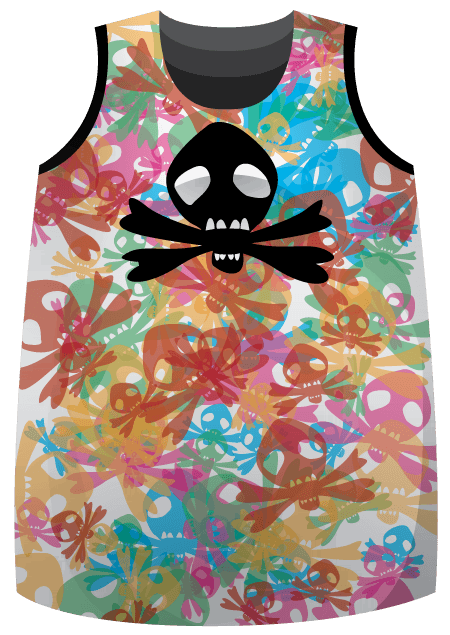 Skull Blitz Sublimated Roller Derby Jersey