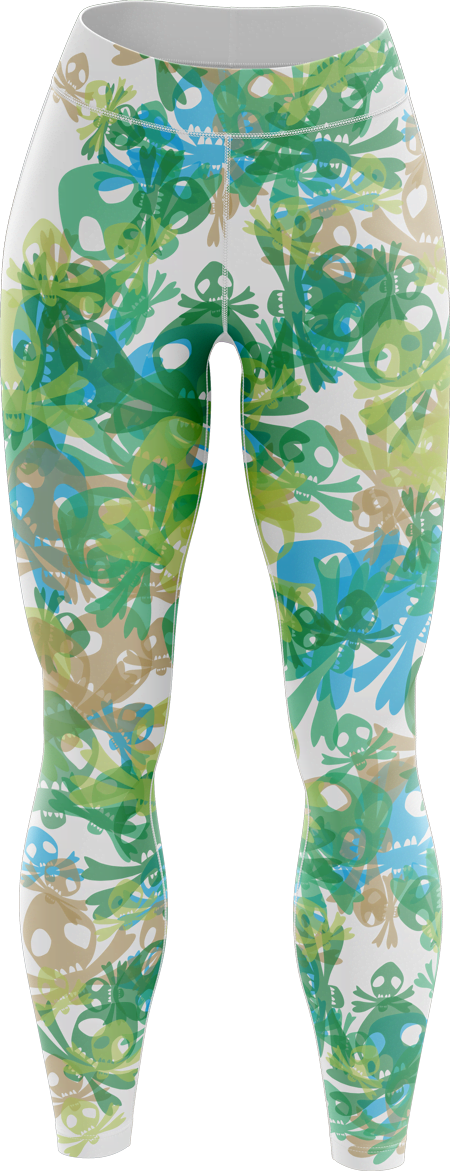 Skull Blitz Sublimated Roller Derby Leggings