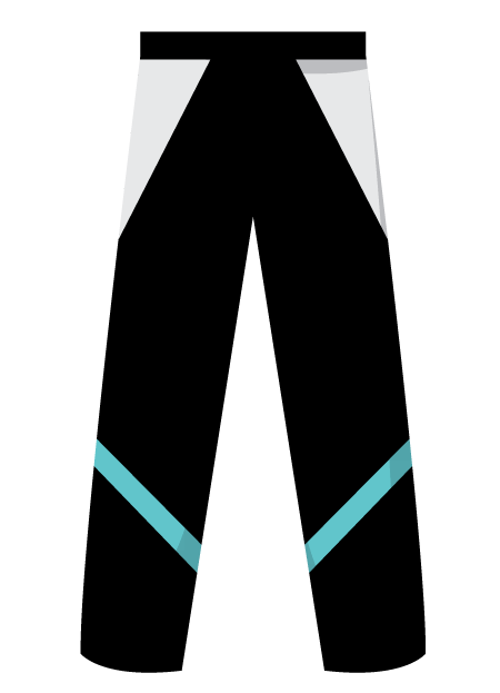 Style 4 Rounders Trousers With Insets