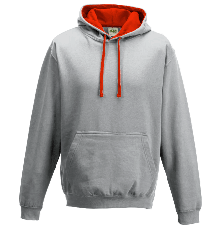 Contrast Hooded Top